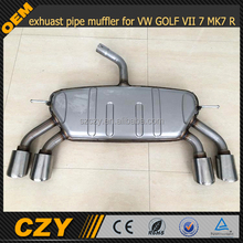 stainless steel exhuast pipe muffler for VW GOLF VII 7 MK7 R RLINE
