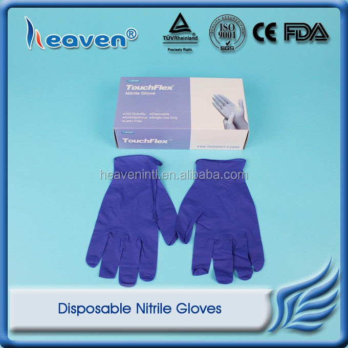 Heaven Medical Disposable Nitrile Gloves Nitrile Examination Gloves Latex Free Gloves