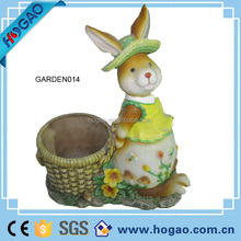 OEM resin crafts, custom polyresin animal shaped vases, animal flower pot for garden decoration