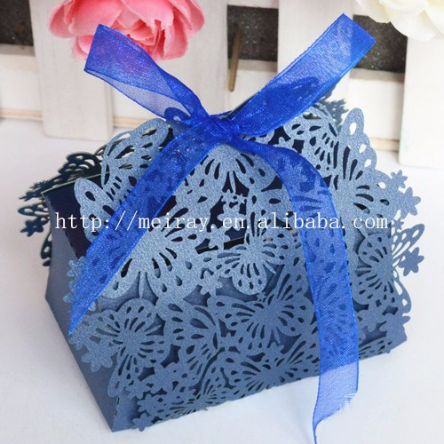 Laser cut wedding guests gifts, butterfly wedding favor box vintage table gifts