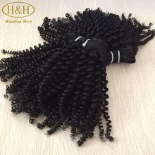 Mongolian kinky curly hair grade 7a natural color double drawn mongolian afro kinky human hair for Braiding