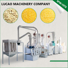 Lucao 6FW-15TS maize germ extracting maize corn grits processing plant milling machine