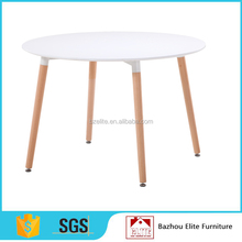 Wholesale wooden legs MDF dining round table