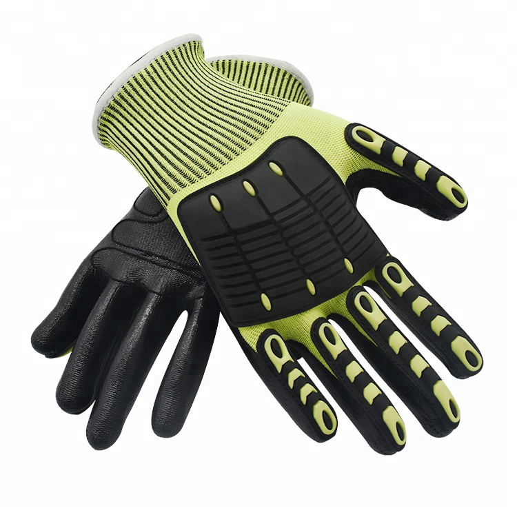 Best quality anti impact cut 5 <strong>gloves</strong> with tpr cut <strong>gloves</strong> anti cut leather en388 safety <strong>gloves</strong>