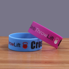 CrossFit Logo Cross fit gym silicone bracelet Sports Charm wristband for man woman
