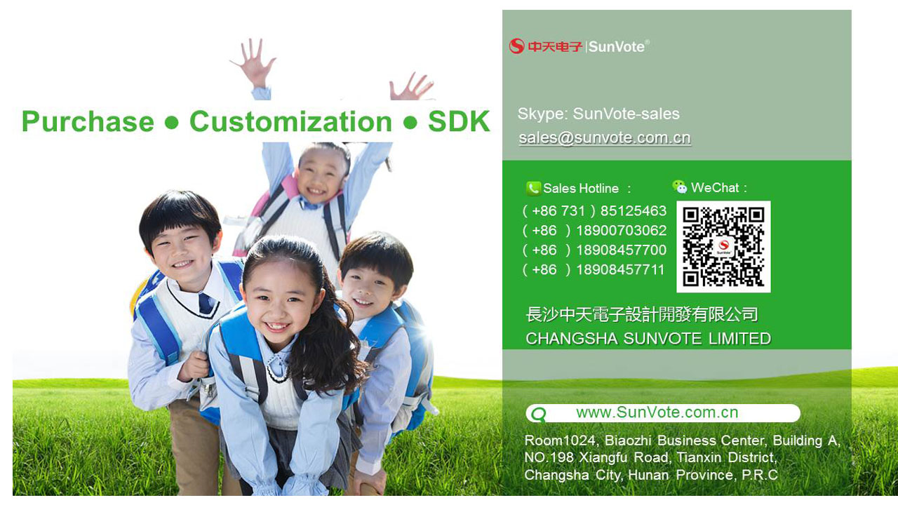 SunVote Interactive Classroom Voting System for K12 Schools and Colleges