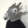 realistic latex  Halloween Mask Giraffe Head Mask