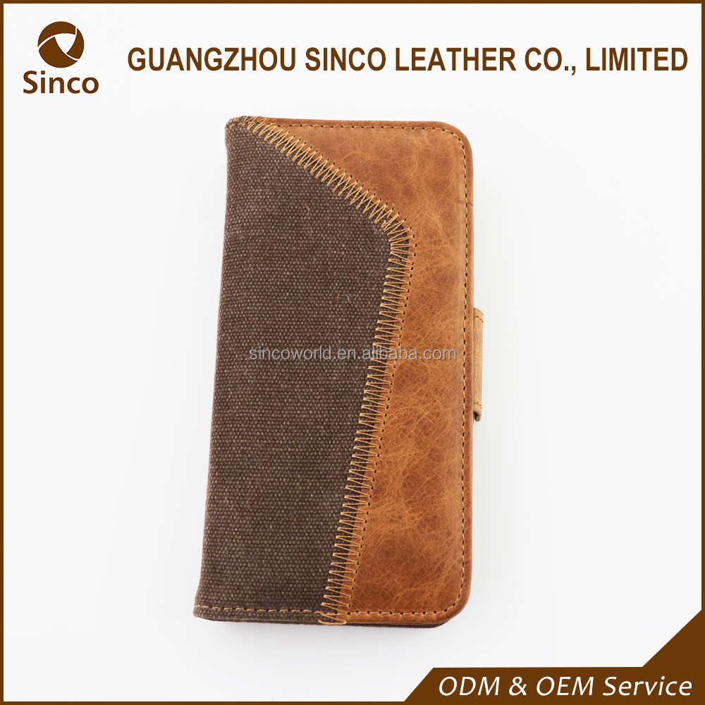 Genuine leather flip cell phone case for iphone 6/6s