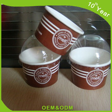Disposable Paper Ice Cream Cup small size paper bowl with Dome Lid