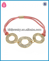 china jewelry wholesale pave crystal elastic cord ring link nylon elastic waistband bracelet(B103633-2)