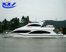 High speed Fiberglass catamaran passenger boat for sale