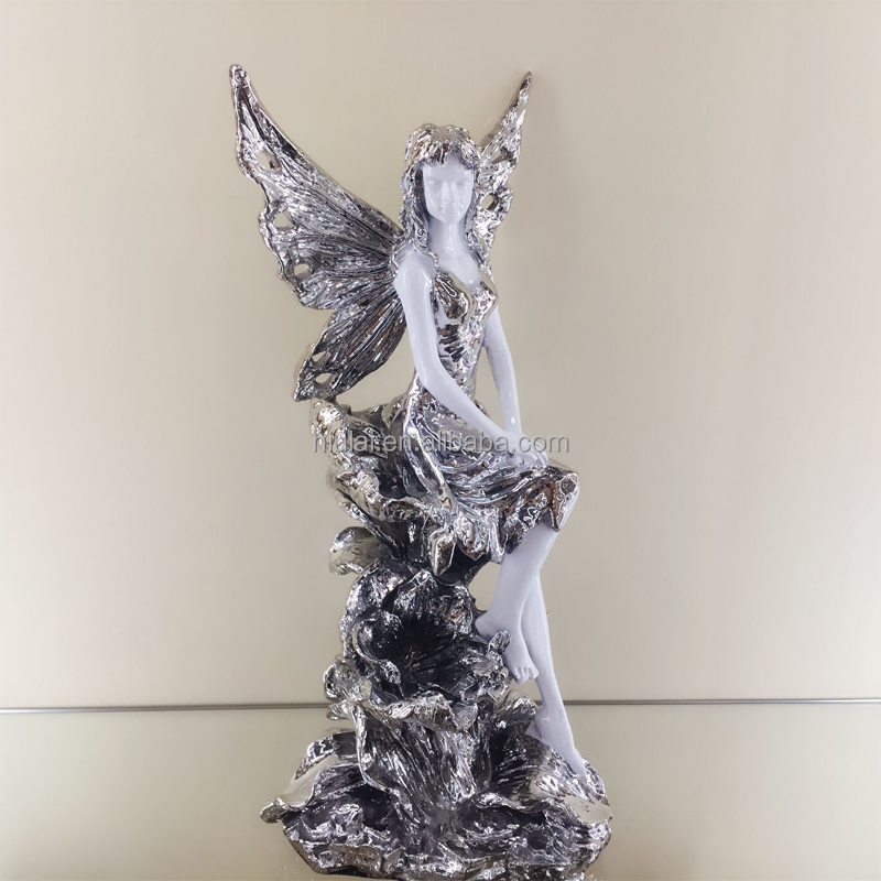 statue beauty figur polyresin angel figurine resin crafts home hotel office decoration gift drawing room