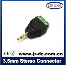 JR-57 Male&female 3.5mm stereo connector to terminal bolock