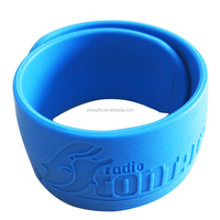 Promotional Giveaway Rubber Slap Bracelet with Your Logo Printing
