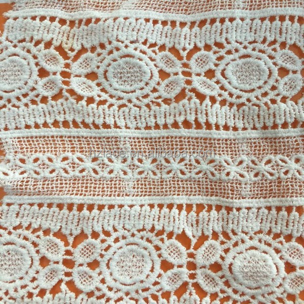 water soluble cotton lace fabric <strong>used</strong> on women's fashion garment