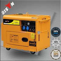BISON China Three Phase Water Cooled 8KW Diesel Generator Price with Silent Type