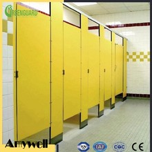 Amywell Factory price waterproof customized formica laminate toilet cubicle partition