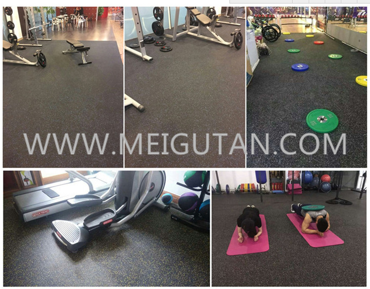 rubber flooring for the gym with clourful EPDM granules