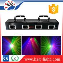 Red, Green, Blue, Yellow 4 heads/holes RGBY Laser Light Beam Laser for Disco