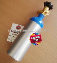 10L-150bar gas cylinder aluminum tank portable oxygen bottle
