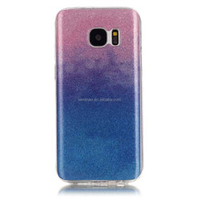 Factory Price Ultra Thin Frosted Bling Shimmering Powder Peake Glitter Mobile Phone Case For Samsung s7 edge cover case