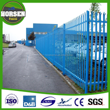 designed metal steel palisade fence for euro style with profile W/D section