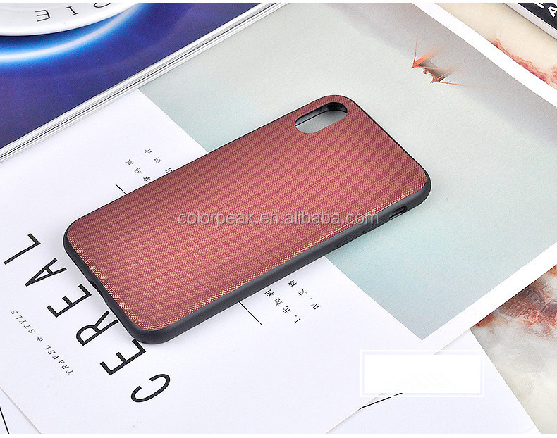 Hot! Business style Retro Cloth Leather Phone case back cover for iPhone X
