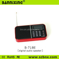 B-718E TF card FM radio mp3 player with built in speaker