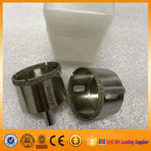 Efficient cutting diamond electroplated core bits for glass used in drilling hole on glass