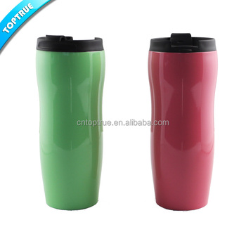 Cheap 8 Oz Double Wall Plastic Travel Mug Coffee Cup With Photo