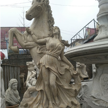 Marble Statue Stone Sculpture Stone Carving Goddess and horse