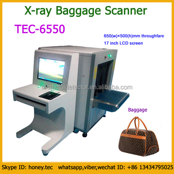 buy the most used station security x-ray baggage scanner machine TEC-6550