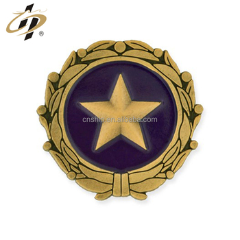 Promotion design logo custom star metal lapel pins from china
