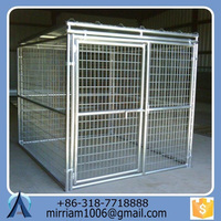 2015 Eco-friendly and stocked hot sale new design fashionable powder coating wrought iron outdoor dog kennels/cages
