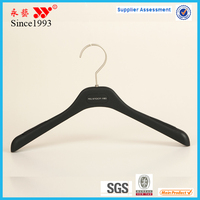 adult plastic clothes hanger black with sticker