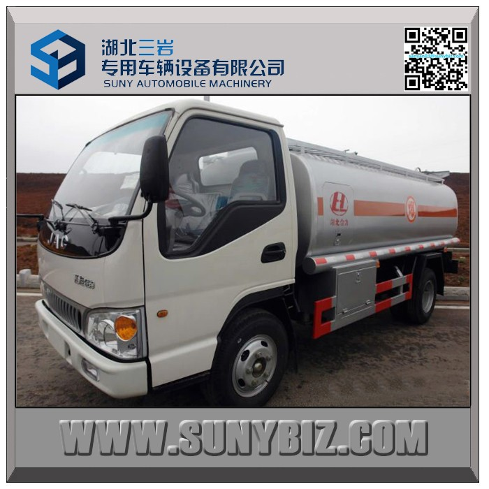 3000 liters gasoline fuel tanker truck 4x2 mobile refueling vehicle JAC refueling truck