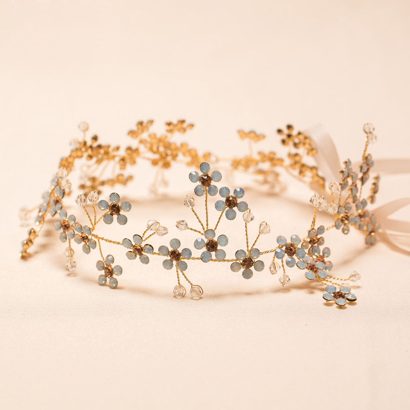 Beautiful floral headband women rhinestone jewelry hairband hair ornaments bridal tiara wedding accessories