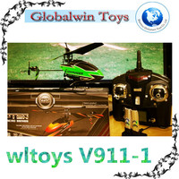 Upgrade Version WLtoys WL-V911-1 gyro mni 2.4G 4ch rc single blade helicopter Green Heli vs helicopter v913