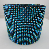 hot sale 24 row Plastic imitate strass diamante Trimming net roll