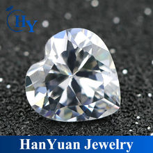 wholesale heart CZ stones loose synthetic diamond