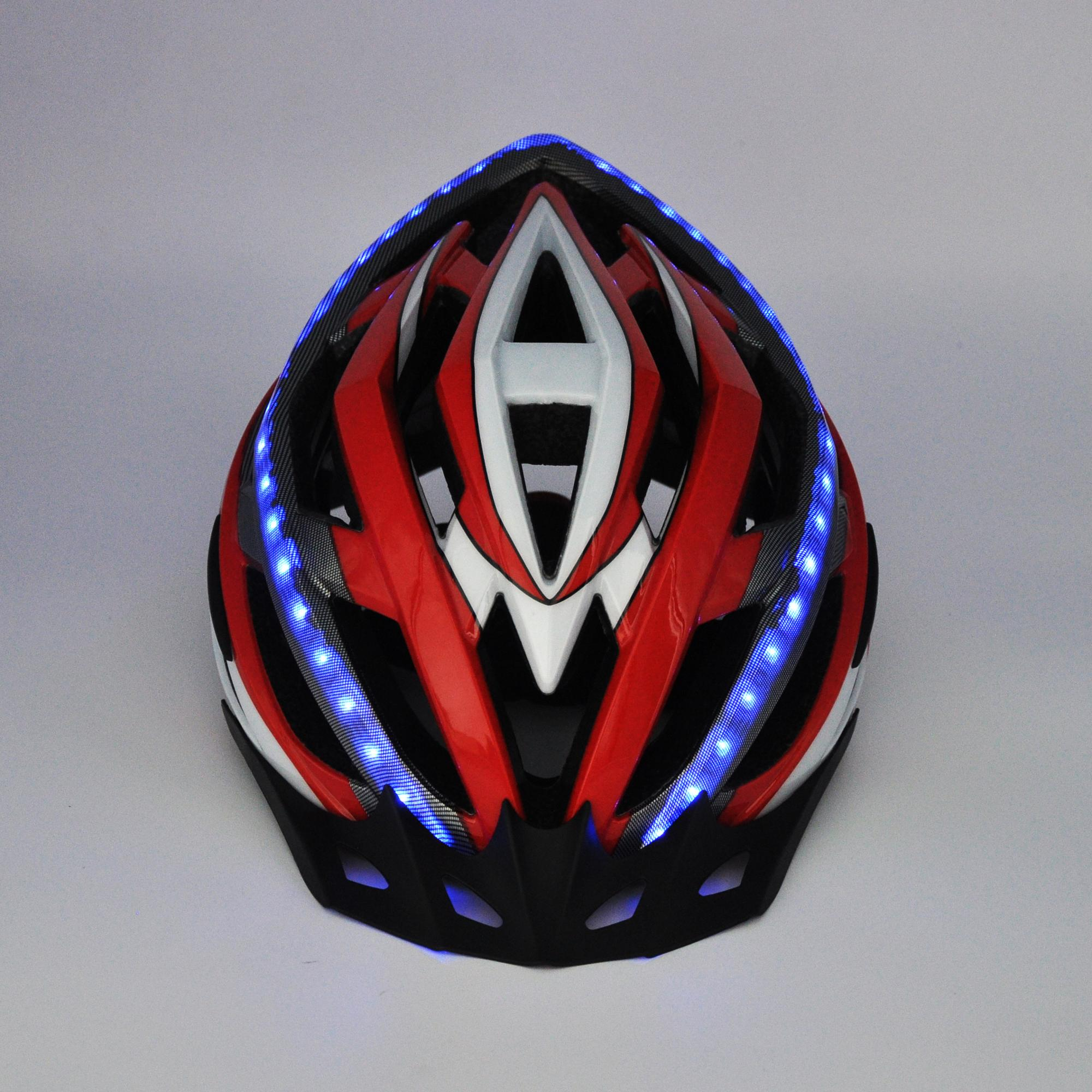 LED bicycle helmet PC in-mold professional bicycle helmet for adult quality PC cove shell
