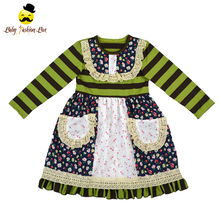 Yiwu Yihong 48BQA358 Children Stripe Flower Pockets Dress Different Types Of Frocks Designs Girls Dress Names With Picture