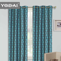 2016 100% Polyester Print Fabric African Style High Ceiling Security Jacquard Curtains For Windows