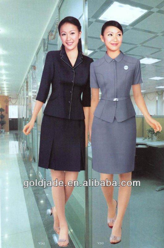 Business frauen b ro uniform style b ro einheitlichen for Office uniform design catalogue