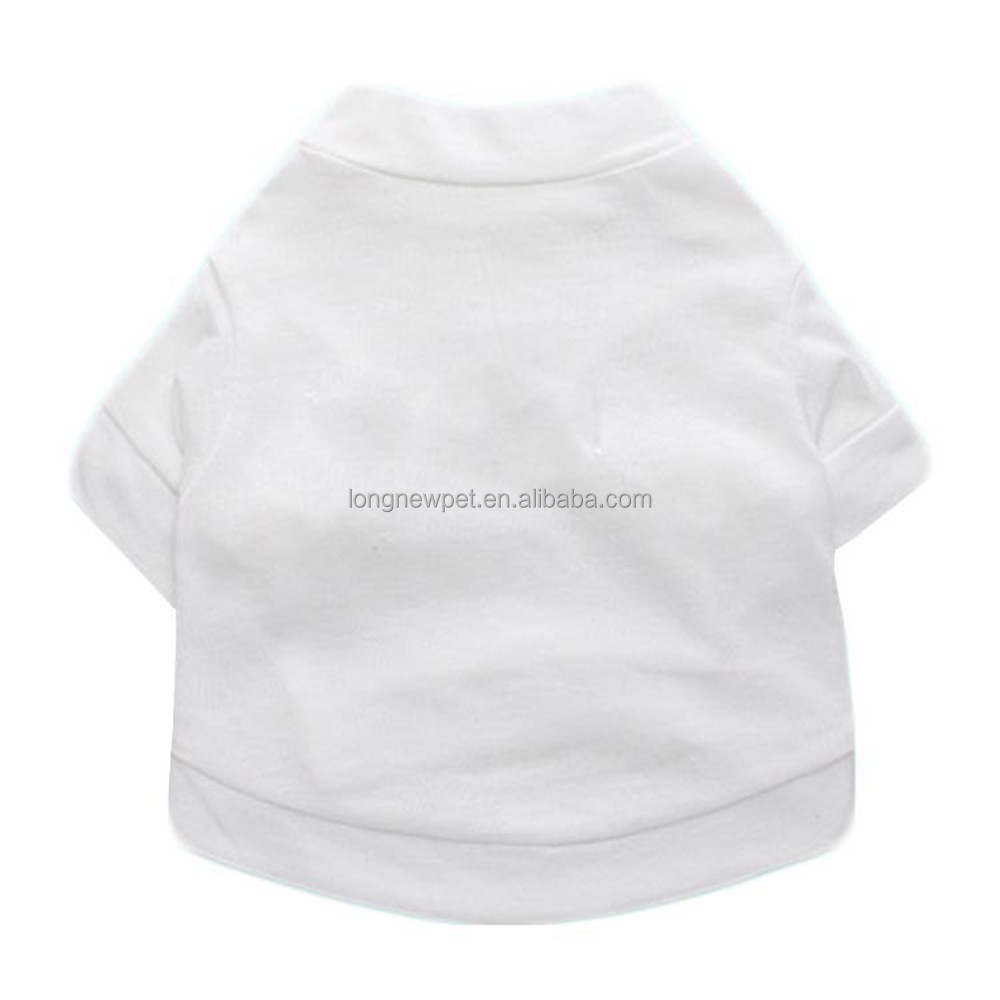 White Plain Blank Pet Dog T Shirts