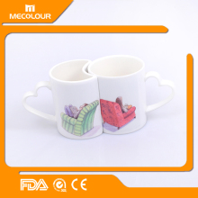Mecolour Ceramic Romantic Matching His and Hers Couple Coffee Mugs