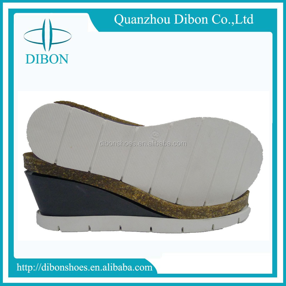 women low price high heels sandal outsole cork and abs and pvc shoe sole