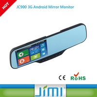 2016 best seller JC900 car dvr gps radar detector dvr in rearview mirror back camera car