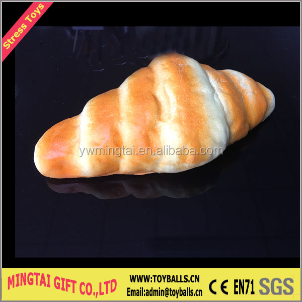 PU Bread Stress Reliever Toys/Custom Polyurethane Bread Anti Stress Toys