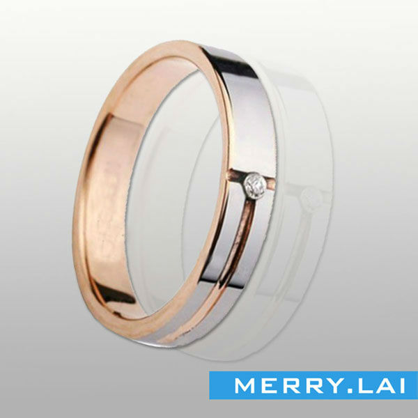OPK New Fashion Jewerly The Lord Of The Rings Golden Titanium Stainless Steel Wedding Band